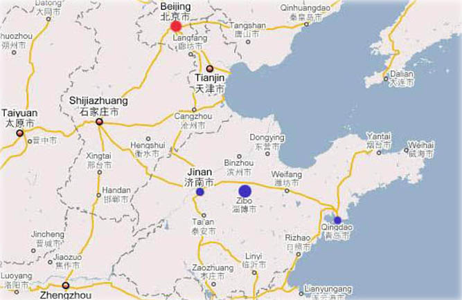 location map, HuaMing, China